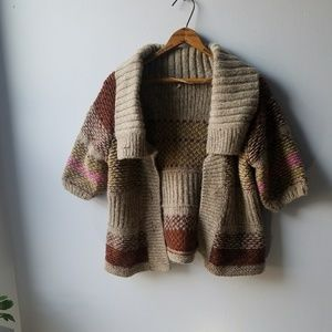 Free People Wool Blend Boho Cardigan  (No Buttons)